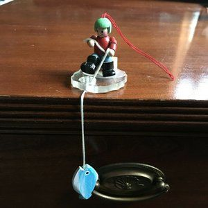 Ice Fishing Holiday Ornament
